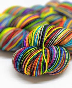 Where Trouble Melts Like Lemon Drops - 40 Stripe Self Striping, Fingering/Sock, Ready To Ship