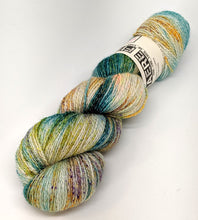 Load image into Gallery viewer, Waterfall- Variegate, Shimmer Yarn, Hand Dyed Fingering/Sock Yarn