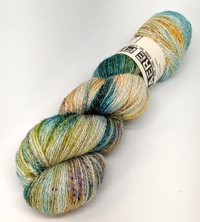 Waterfall- Variegate, Shimmer Yarn, Hand Dyed Fingering/Sock Yarn