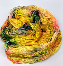 Load image into Gallery viewer, Glitter Bomb- Variegate, Shimmer Yarn, Hand Dyed Fingering/Sock Yarn