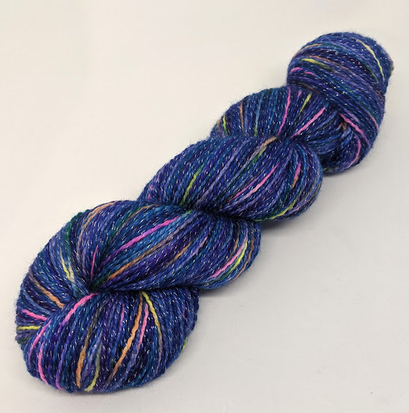 Night Sky- Variegate, Shimmer Yarn, Hand Dyed Fingering/Sock Yarn