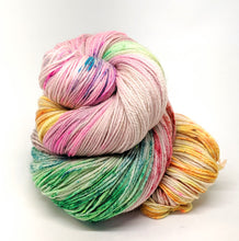 Load image into Gallery viewer, Knit The Rainbow, 100% Super Wash Merino Yarn, Hand Dyed Fingering/Sock Yarn