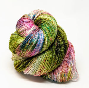 Field of Flowers- Variegate, Shimmer Yarn, Hand Dyed Fingering/Sock Yarn