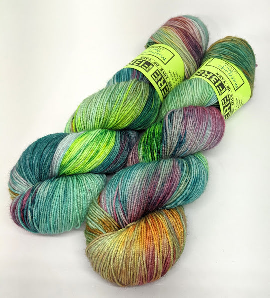 Mermaids Tail- Variegate, Work Horse Sock, Hand Dyed Fingering/Sock Yarn