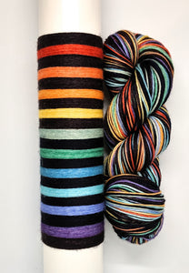 A Rainbow By Any Other Name... - 20 Stripe Self Striping, Ready To Ship