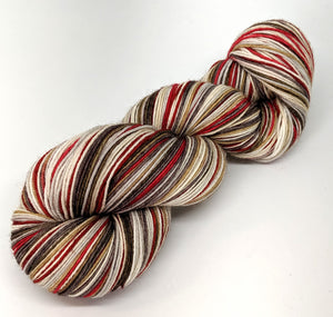Hot Cocoa - 10 Stripe Self Striping, Dyed To Order