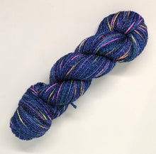 Load image into Gallery viewer, Night Sky- Variegate, Shimmer Yarn, Hand Dyed Fingering/Sock Yarn
