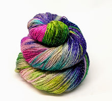 Load image into Gallery viewer, Flora- Variegate, Shimmer Yarn, Hand Dyed Fingering/Sock Yarn