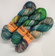 Load image into Gallery viewer, Lagoon- Variegate, Shimmer Yarn, Hand Dyed Fingering/Sock Yarn