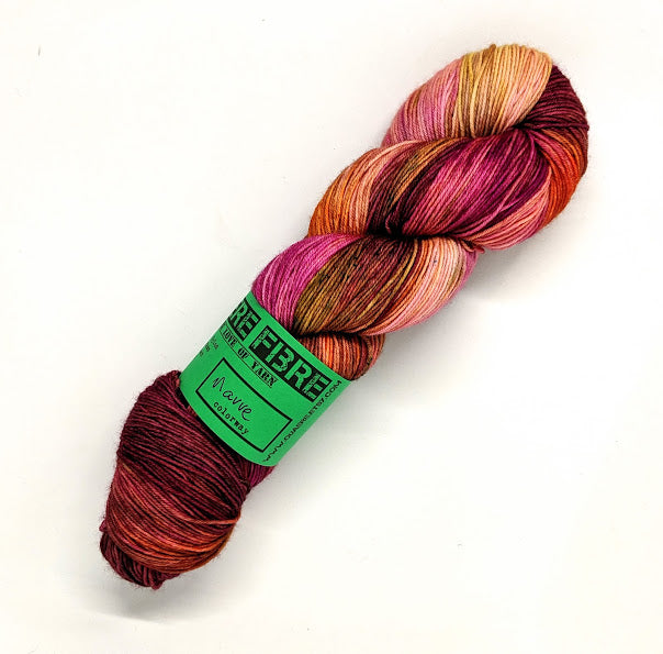Mauve- Variegate, Work Horse Sock, Hand Dyed Fingering/Sock Yarn