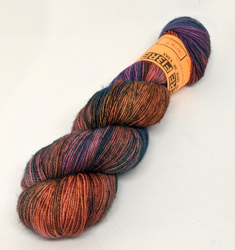Sunset- Variegate, Sparkle Yarn, Hand Dyed Fingering/Sock Yarn