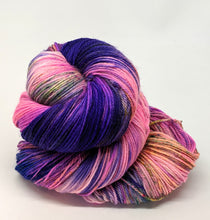 Load image into Gallery viewer, Frenzy, 100% Super Wash Merino Yarn, Hand Dyed Fingering/Sock Yarn