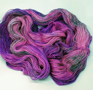 Popping- Variegate, Sparkle Yarn, Hand Dyed Fingering/Sock Yarn