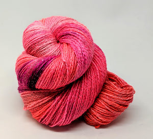 Popping- Variegate, Shimmer Yarn, Hand Dyed Fingering/Sock Yarn