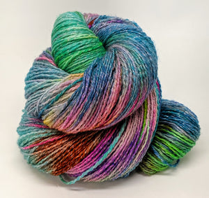 Sea Spray- Variegate, Shimmer Yarn, Hand Dyed Fingering/Sock Yarn