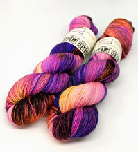 Load image into Gallery viewer, Purple Fall - Variegate, Sparkle Yarn, Hand Dyed Fingering/Sock Yarn
