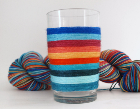 Cooler and Warmer - 10 Stripe Self Striping, Dyed To Order