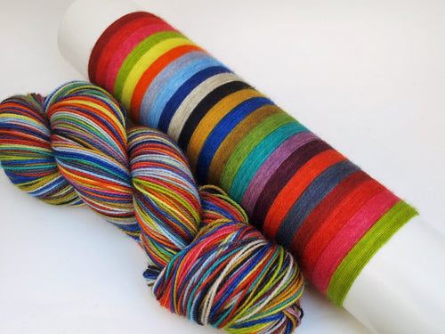 Curiouser And Curiouser - 20 Stripe Self Striping, DYED TO ORDER