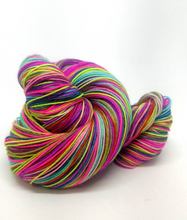 Load image into Gallery viewer, Flying Needles on Sparkle Sock- 20 Stripe Self Striping, Ready To Ship