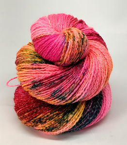 A Pink Explosion- Variegate, Shimmer Yarn, Hand Dyed Fingering/Sock Yarn