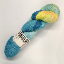 Load image into Gallery viewer, A Lighter Starry Night- Variegate, Shimmer Yarn, Hand Dyed Fingering/Sock Yarn