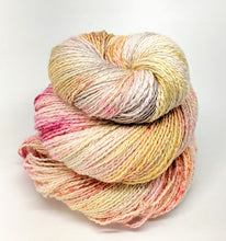 Load image into Gallery viewer, Champagne- Variegate, Shimmer Yarn, Hand Dyed Fingering/Sock Yarn