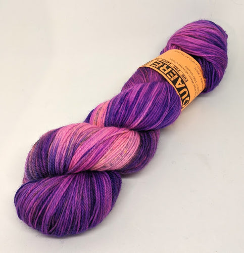 Purple Haze- Variegate, 100% Super Wash Merino Yarn, Hand Dyed Fingering/Sock Yarn
