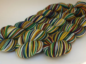 House Colors - 20 Stripe Self Striping, DYED TO ORDER