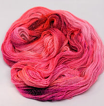 Load image into Gallery viewer, Popping- Variegate, Shimmer Yarn, Hand Dyed Fingering/Sock Yarn