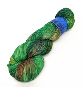 Kelp- Variegate, Work Horse Sock, Hand Dyed Fingering/Sock Yarn