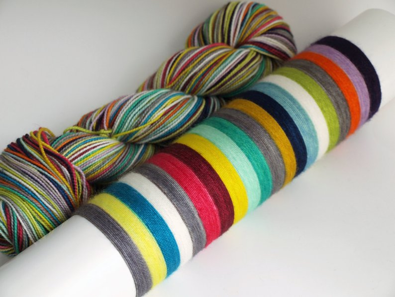 Patchwork 2.0 - 20 Stripe Self Striping, Dyed To Order