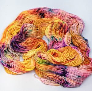 Sunshine- Variegate, Sparkle Yarn, Hand Dyed Fingering/Sock Yarn