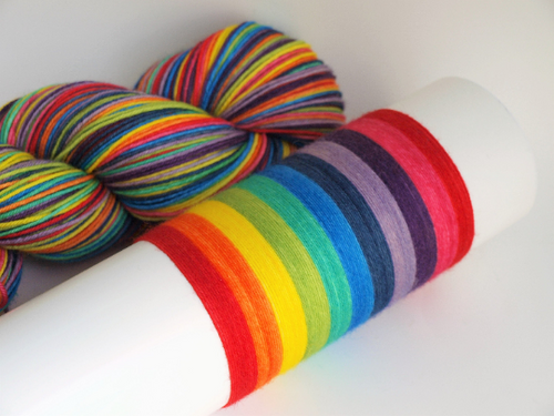 10 Stripe Rainbow - 10 Stripe Self Striping, Dyed To Order