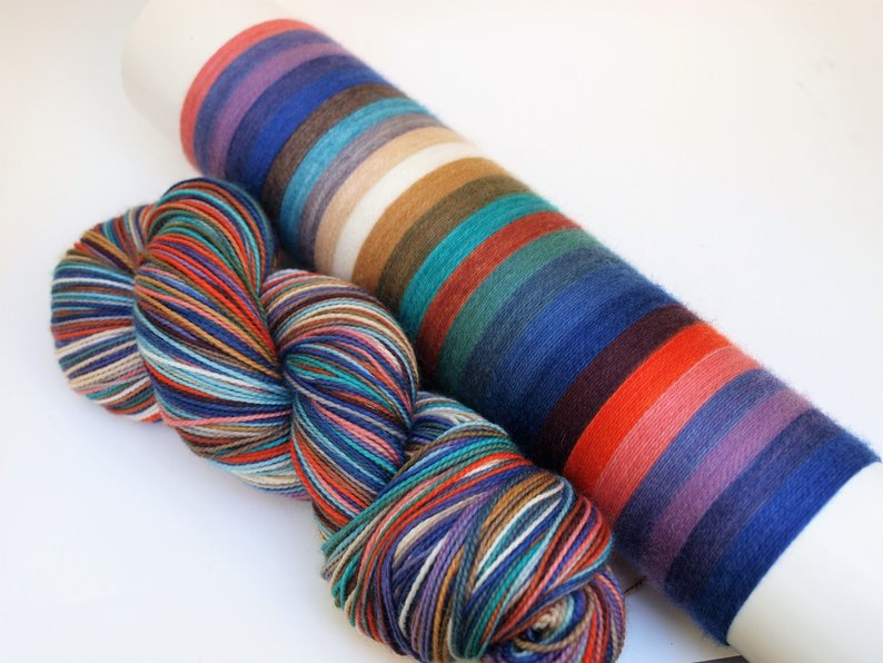 Slated - 20 Stripe Self Striping, DYED TO ORDER