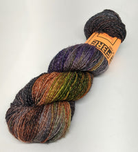 Load image into Gallery viewer, Spooky- Variegate, Shimmer Yarn, Hand Dyed Fingering/Sock Yarn