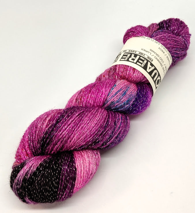 Mallow- Variegate, Shimmer Yarn, Hand Dyed Fingering/Sock Yarn