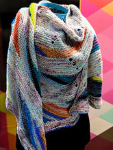 Load image into Gallery viewer, Oil Slick- Variegate, Shimmer Yarn, Hand Dyed Fingering/Sock Yarn