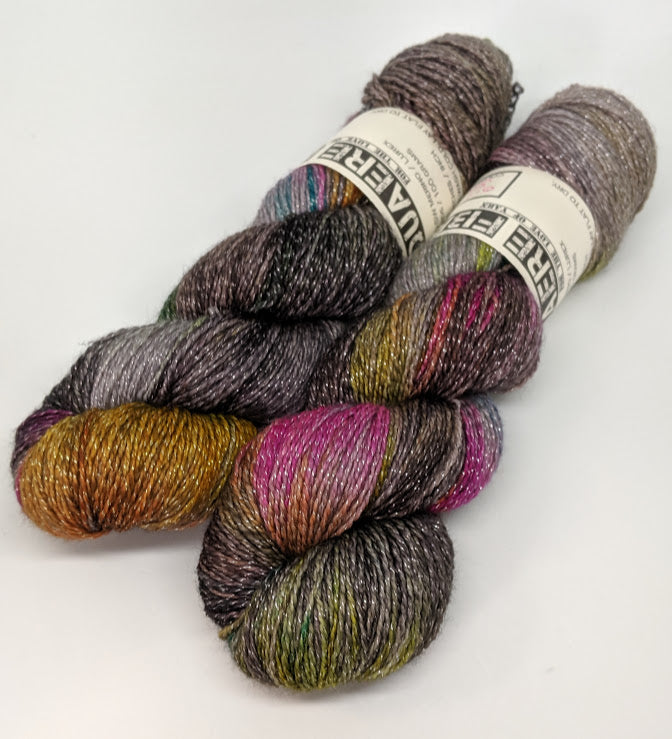 Oil Slick- Variegate, Shimmer Yarn, Hand Dyed Fingering/Sock Yarn