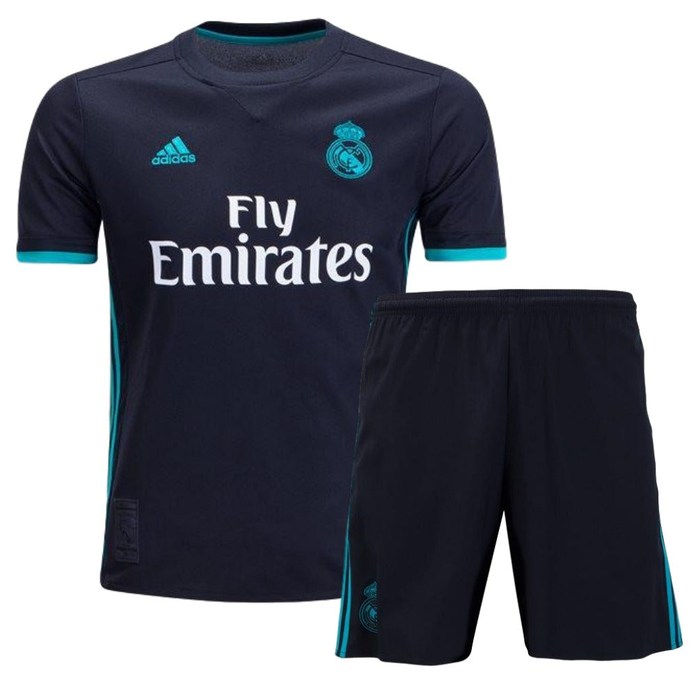 28551173746 Real Madrid 17 18 Away Youth Kit – Soccer Limited