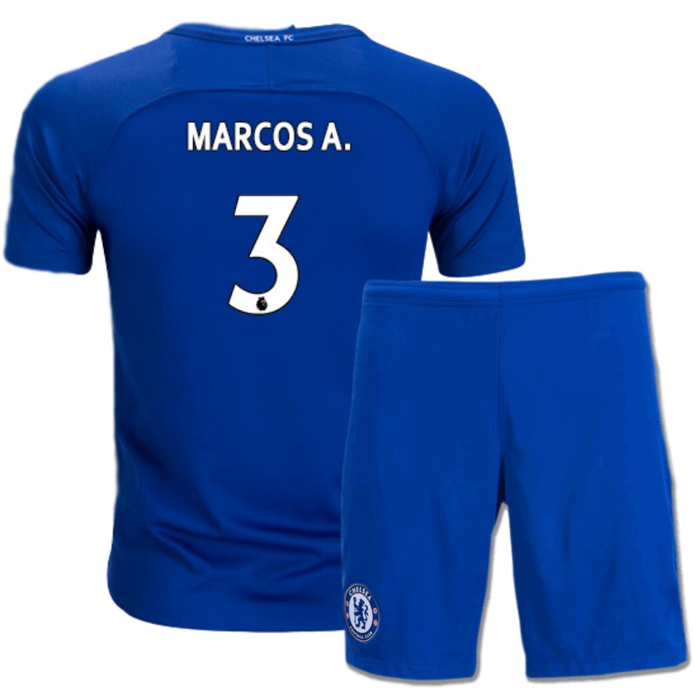 369dbc7a111 Chelsea 17 18 Home Youth Kit Marcos A.  3 – Soccer Limited