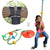 Tree Swing Climbing Rope Multicolor with Platforms Red Disc Swings Seat - Outdoor Playground Set Accessories - Bonus Carabiner and 4 Feet Strap