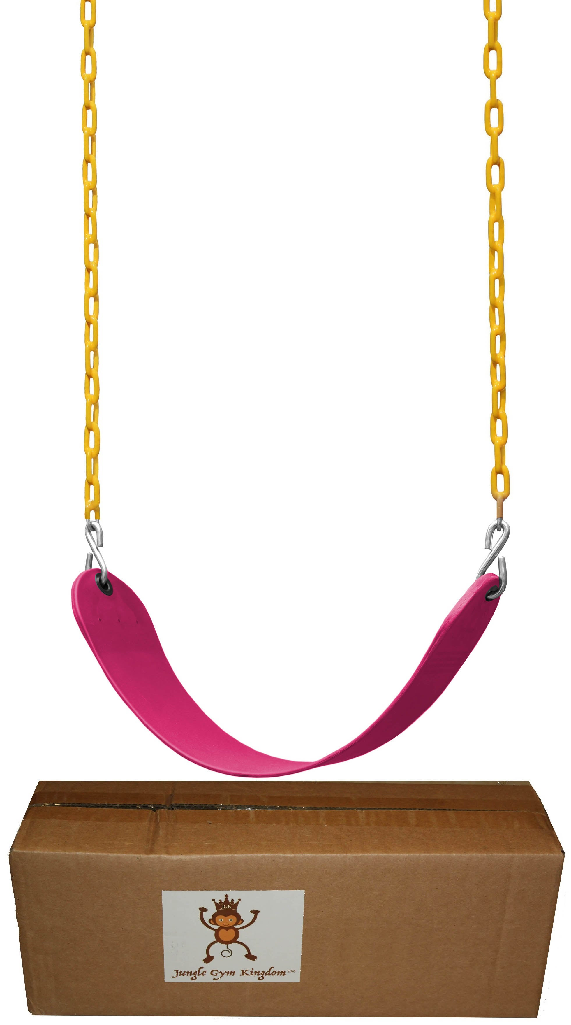 "Swing Seat Heavy Duty 66"" Chain Plastic Coated with Snap Hooks - Pink"