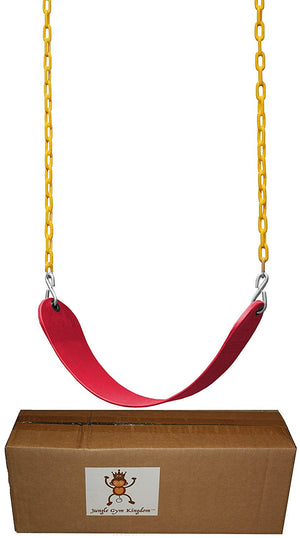 "Swing Seat Heavy Duty 66"" Chain Plastic Coated with Snap Hooks - Red"