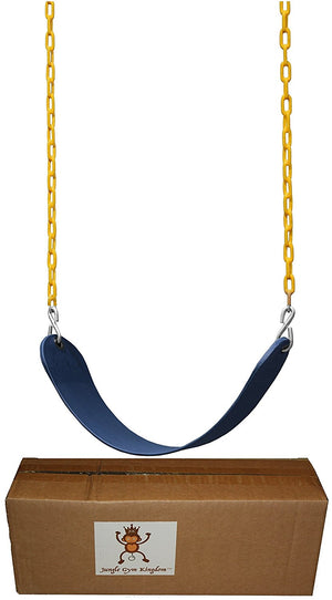 "Swing Seat Heavy Duty 66"" Chain Plastic Coated with Snap Hooks - Blue"