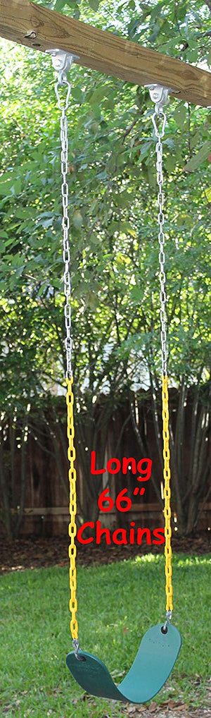 "Swing Seat Heavy Duty 66"" Chain Plastic Coated with Snap Hooks - Green"