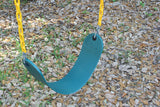 "Jungle Gym Kingdom 2 Pack Swings Seats Heavy Duty 66"" Chain Plastic Coated with Snap Hooks - Green"
