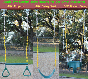 Heavy Duty Swing Hangers for Playground Porch Wooden Sets | Locking Snap Hooks
