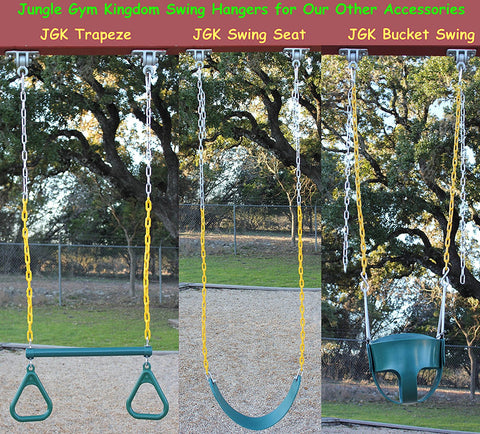 Jungle Gym Kingdom 2 Heavy Duty Swing Hangers With Locking Snap