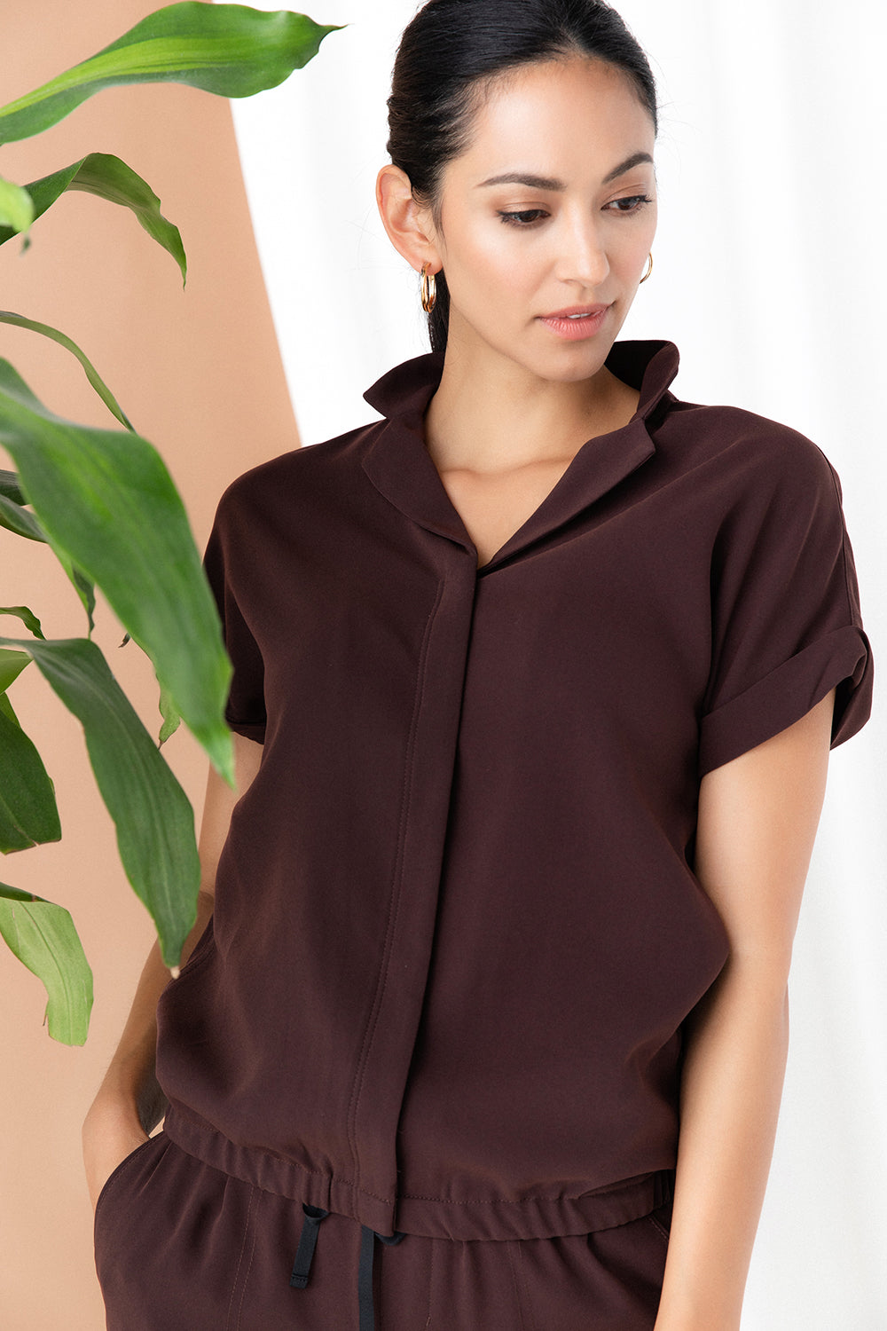 Blouson Shirt Jacket - Chocolate