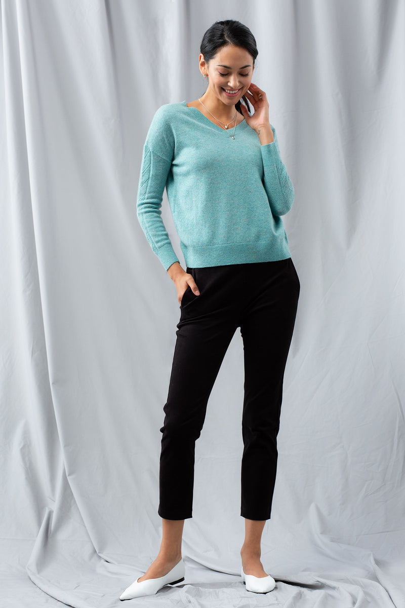 Cable 2-Way Sweater - Winter Jade